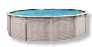 Round above ground pools