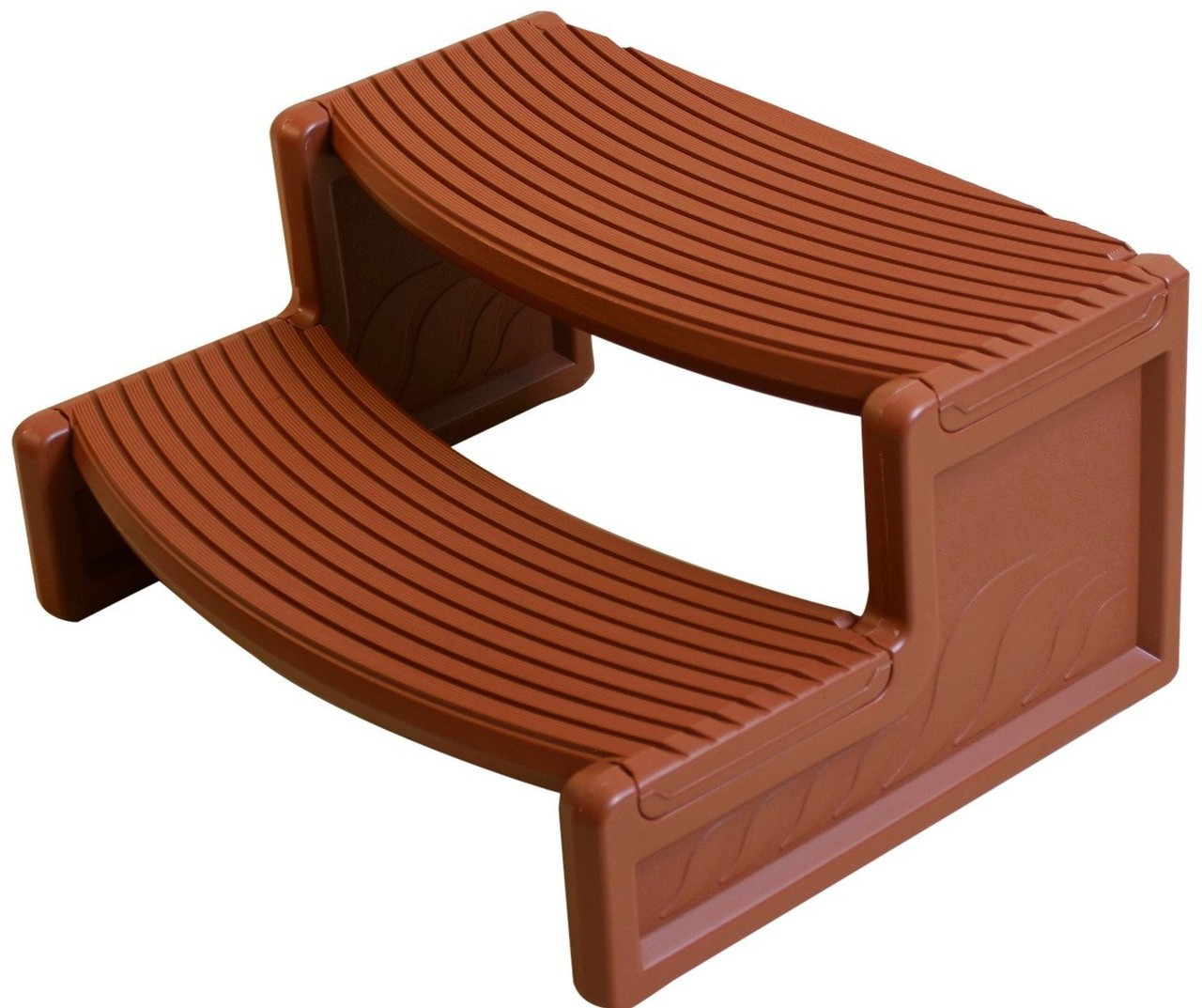 Hot Tub Steps Redwood Plastic