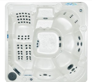 wave lounger outfitted hot tub spa